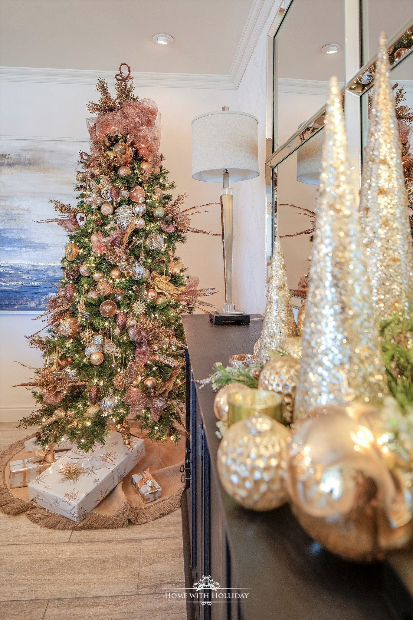 My Christmas Home Tour - Mixed Metallic Christmas Tree - Home with Holliday