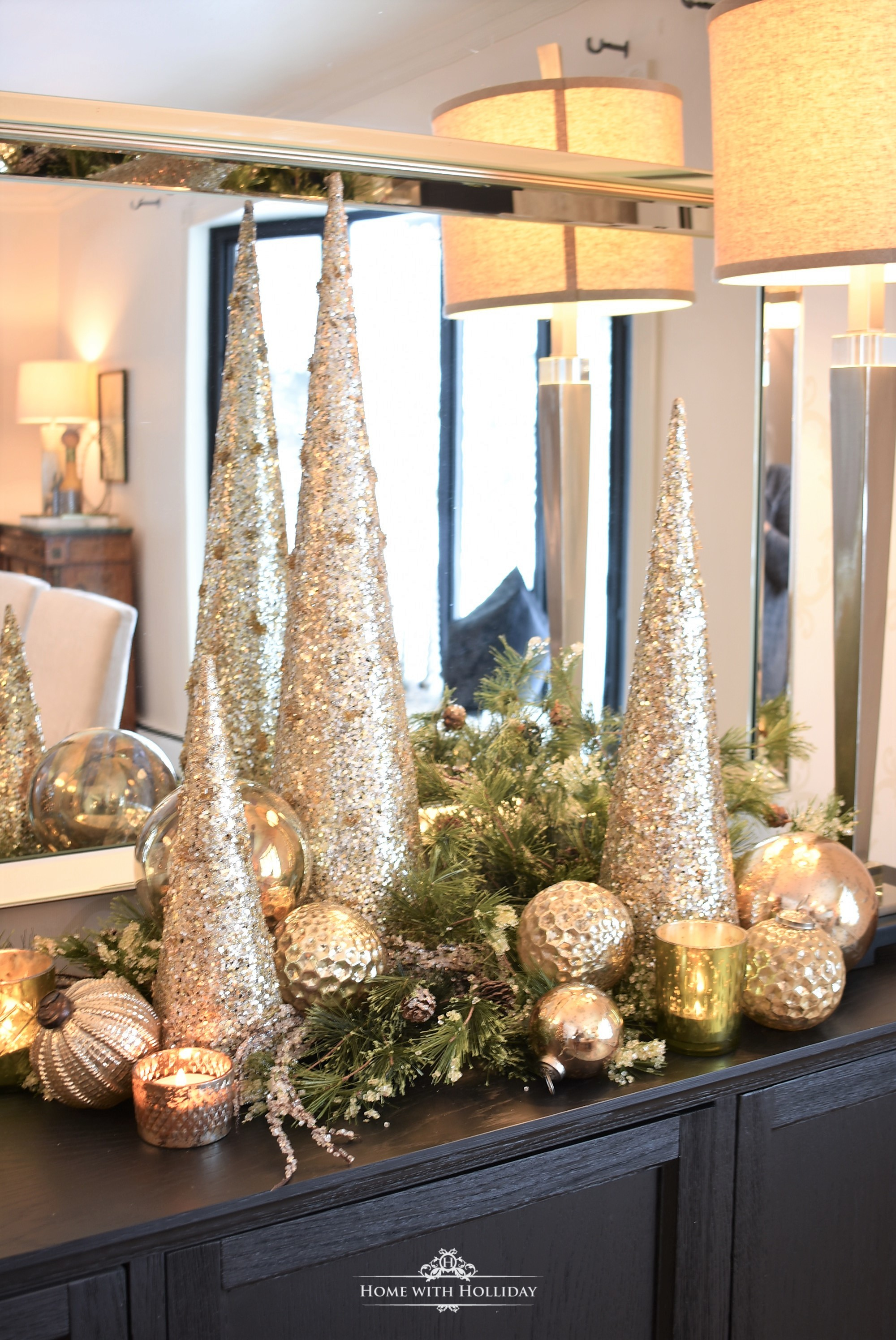 Inspiration for my Gold and Silver Snowflake Table Setting - Home with Holliday