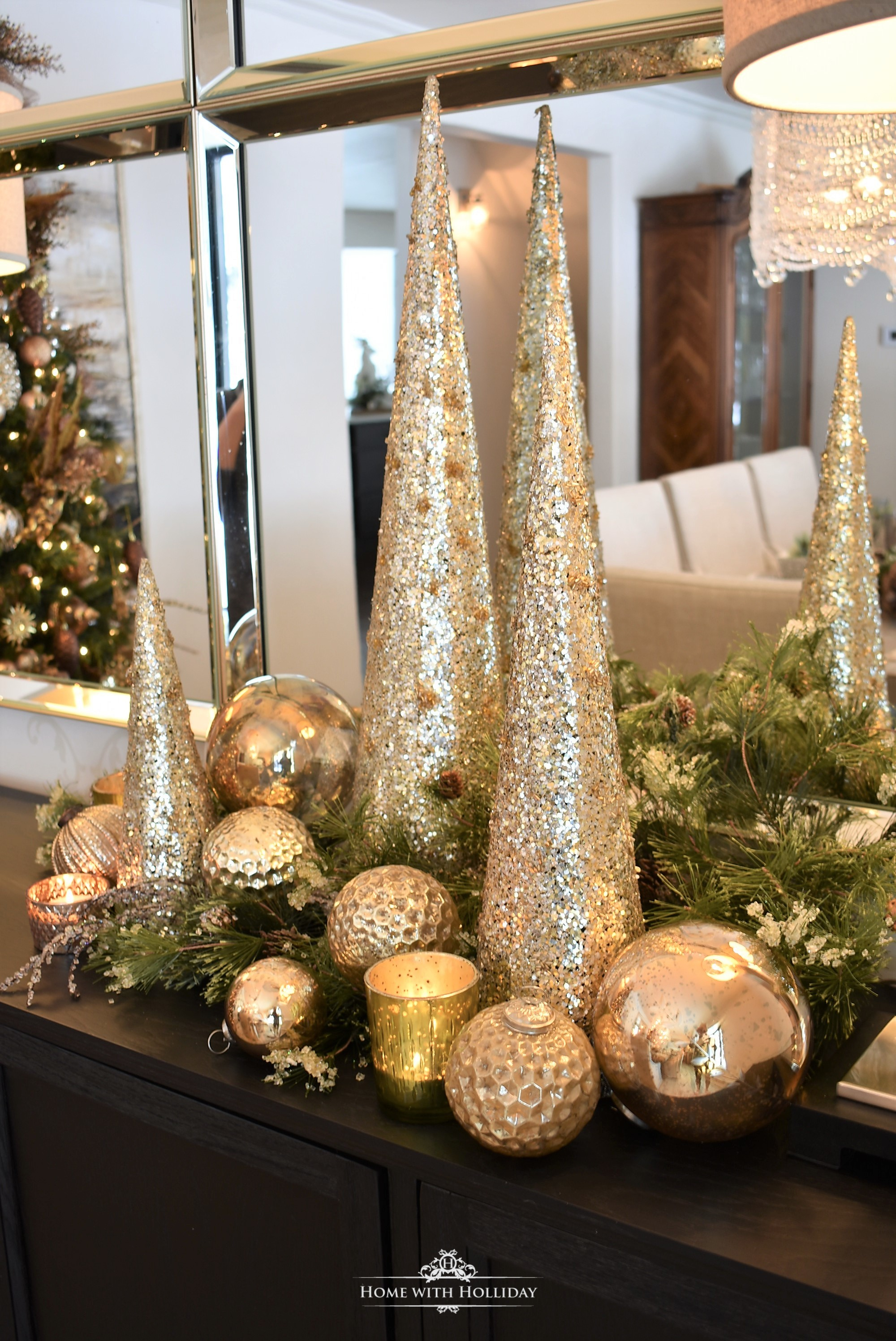 Inspiration for my Gold and Silver Snowflake Christmas Table Setting - Home with Holliday