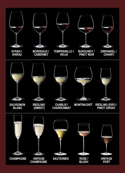 Wine Glass Chart for a Wine Tasting Dinner Party - Home with Holliday