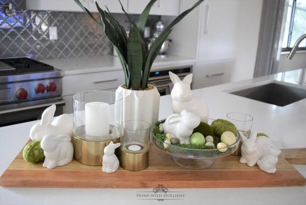 A Spring Vignette Refresh - Three Ways - Home with Holliday