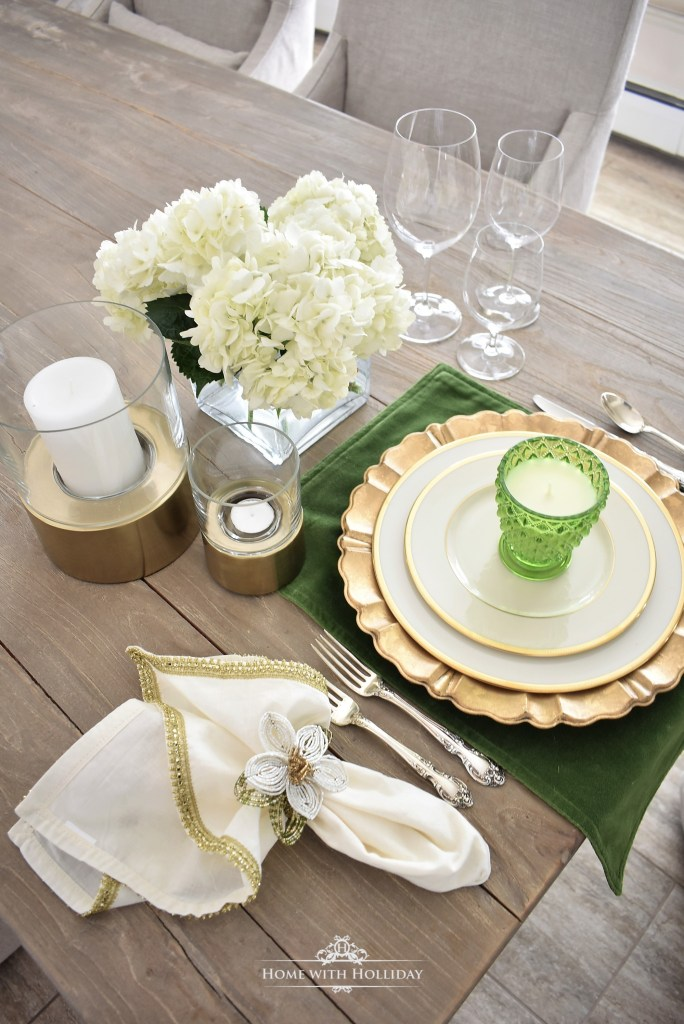Elegant Green Table Setting Ideas - Home with Holliday