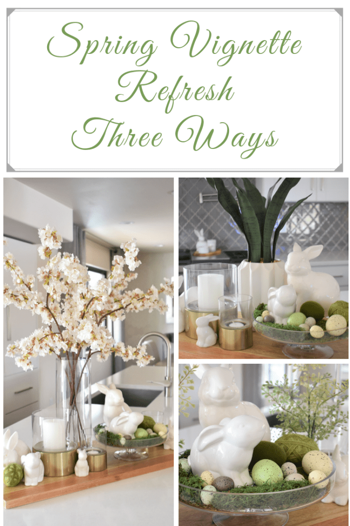 Spring Vignette Refresh - Three Ways - Home with Holliday