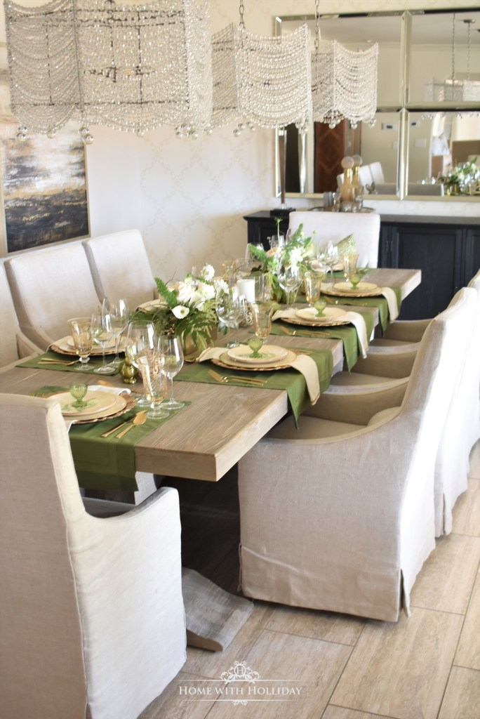 Our Green and Gold Easter Table Setting - Home with Holliday