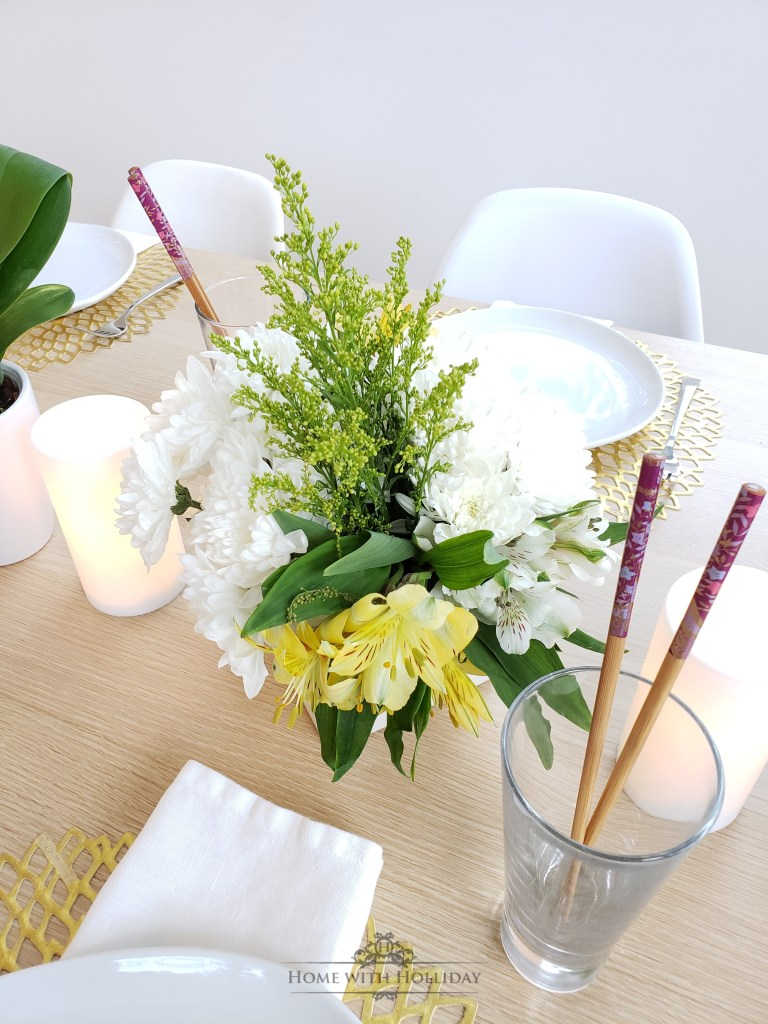 Simple Spring Table Setting - Home with Holliday