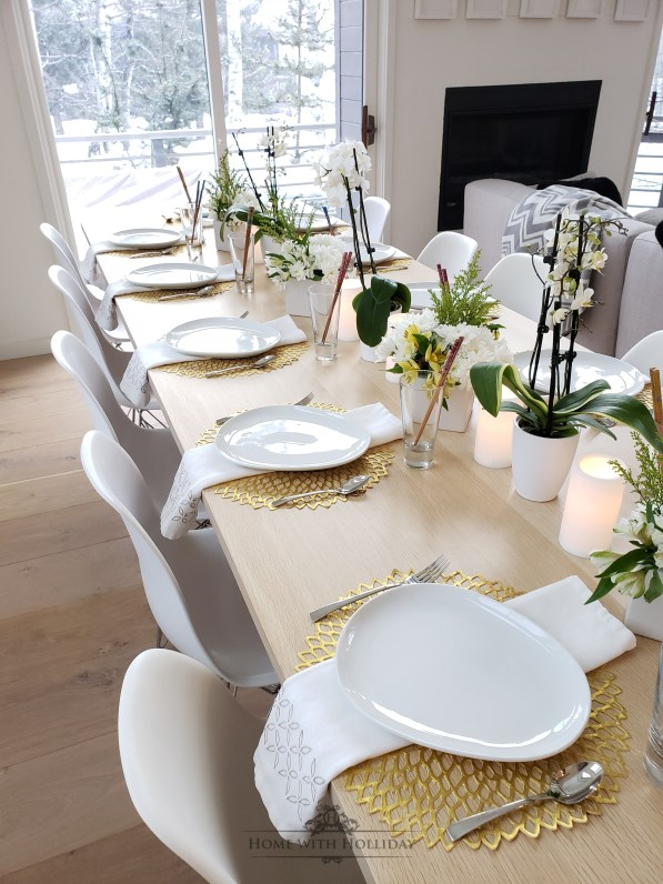 Simple Spring Table Setting for a Sushi Dinner - Home with Holliday