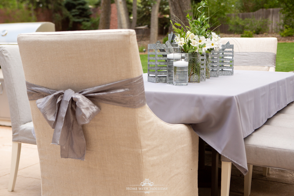 Modern Rustic Bridal Shower Tables - Home with Holliday