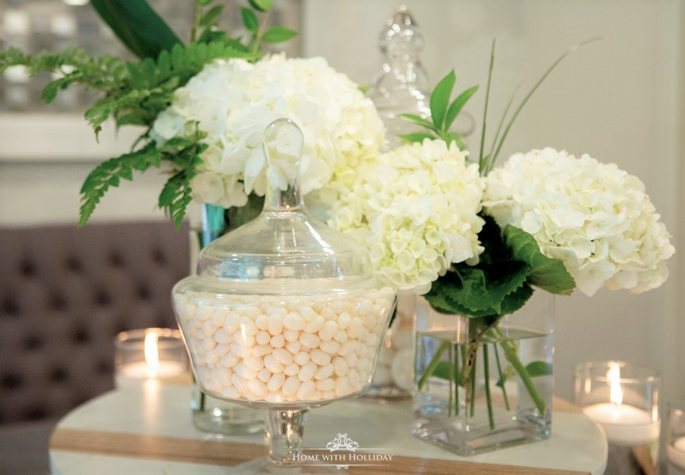 Modern Rustic Bridal Shower Dessert Table - Home with Hollida