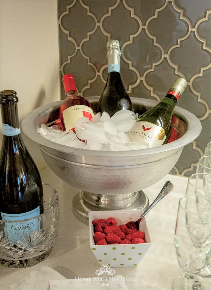 Modern Rustic Bridal Shower Drink Station - Home with Holliday