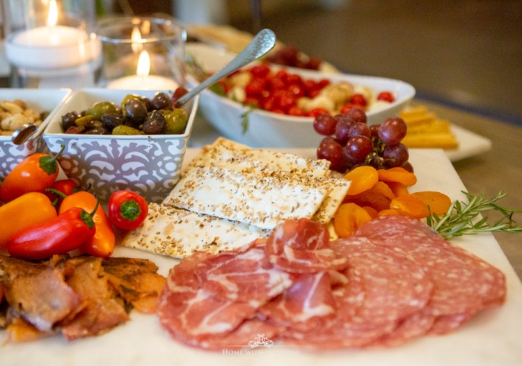 Modern Rustic Bridal Shower Charcuterie Boards - Home with Holliday