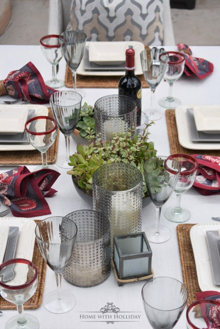 Backyard Alfresco Wine Dinner Party - Home with Holliday