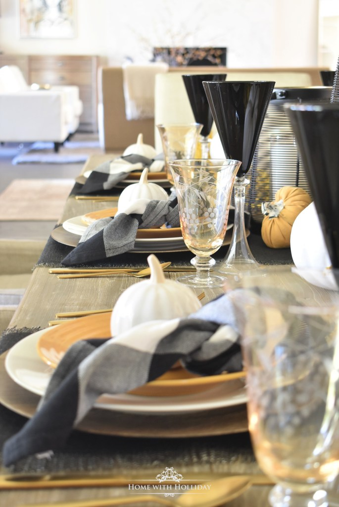 A Rustic Harvest Gold Fall Tablescape - Home with Holliday