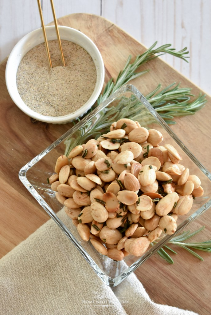 Simple Roasted Rosemary Marcona Almonds - Home with Holliday