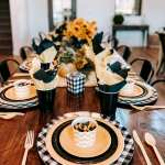 Simple Fall Tablescape Fall Paper Plate Table Setting