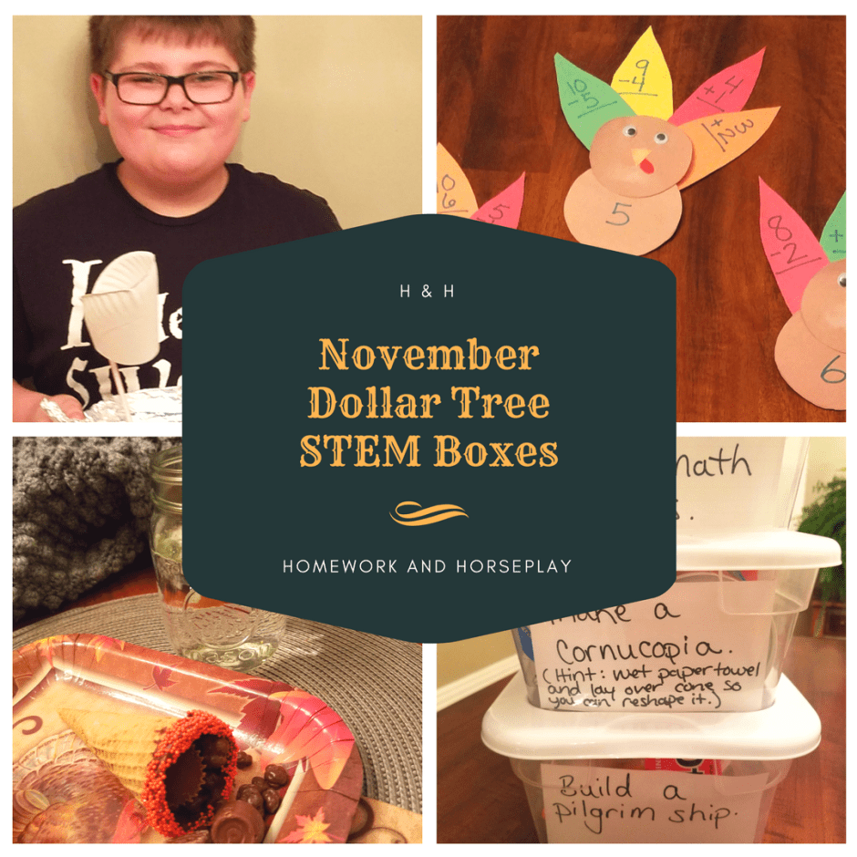 November Dollar Tree STEM Boxes