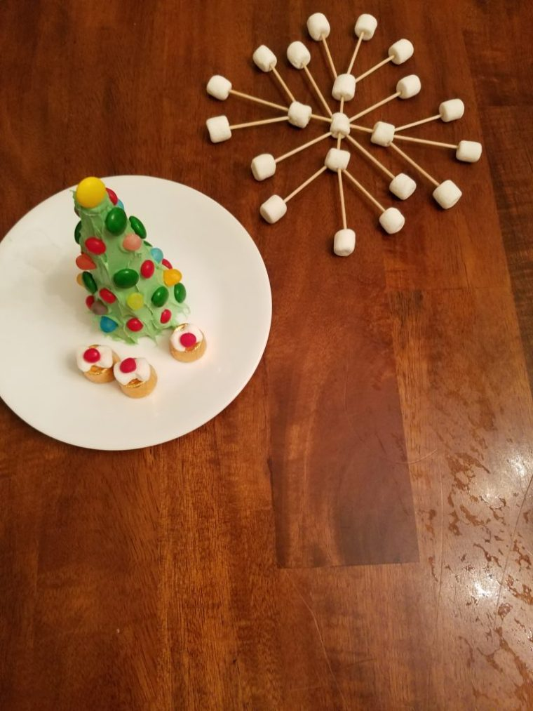 December Dollar Tree STEM Boxes Make Marshmallow Snowflakes
