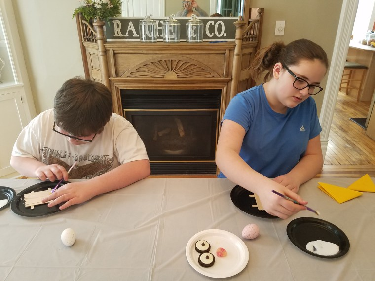 Build a penguin and an ice floe challenge from Homework and Horseplay