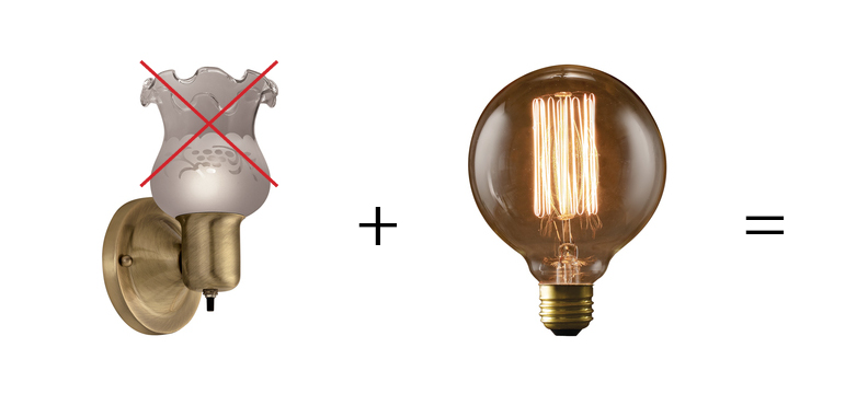 Easy peasy affordable wall sconce | HomeWork Design Co.