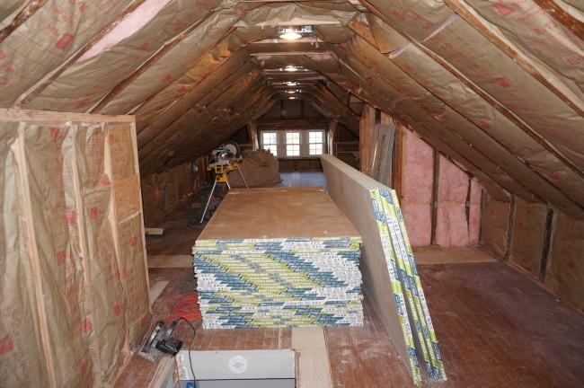 Before After Attic Renovation Homework Design Co
