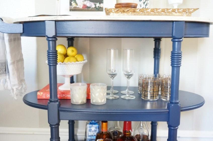 All Hale Navy - Bar Cart | HomeWork Design Co.