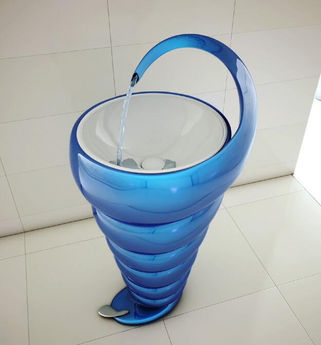 Spiral Washbasin  interesting and elegant design