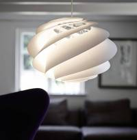 Swirl lamp: light and delicately by Le Klint