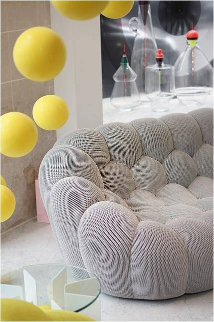 Bubble Sofa by Sacha Lakic stylish colourful and handmade