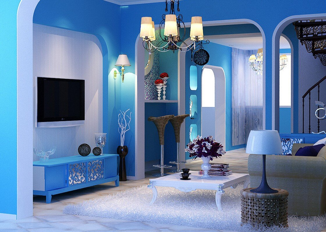 Painting Room With Hues Of Blue