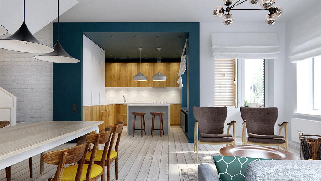 Elegant Duplex Apartment in Moscow  INT2 Architecture