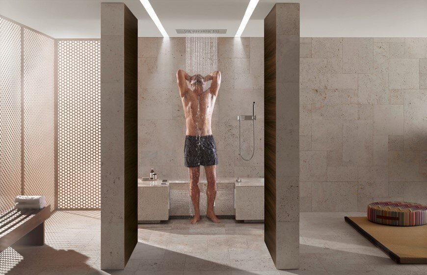 Comfort Shower from Dornbracht lets you shower while
