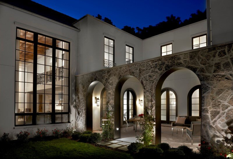 Stately House with Traditional Architectural Forms and