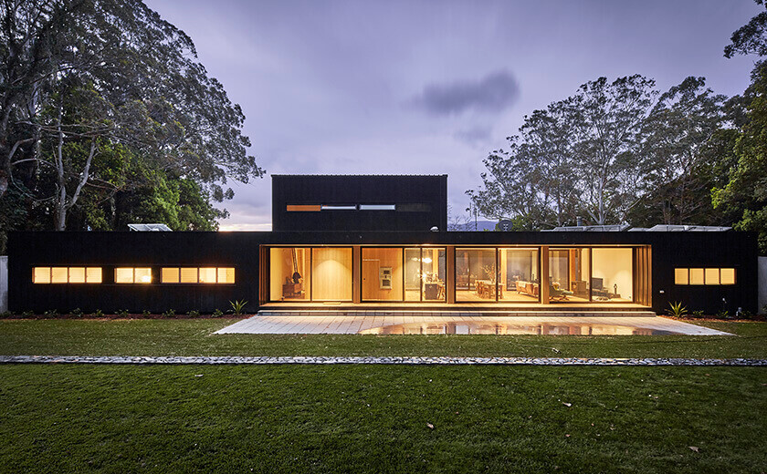 Modular Home Like a Airy Pavilion in New South Wales by