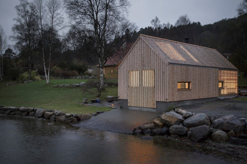 Old boat house converted into recreational space