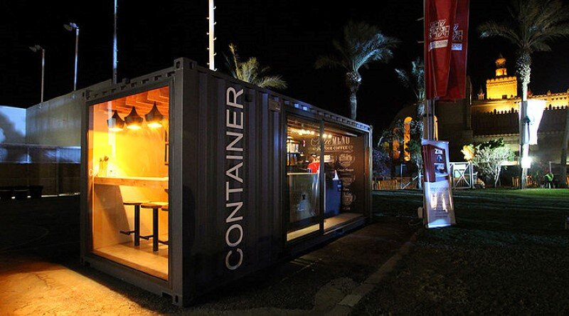 Mobile Coffee Shop Built in Five Weeks for a Design Competition