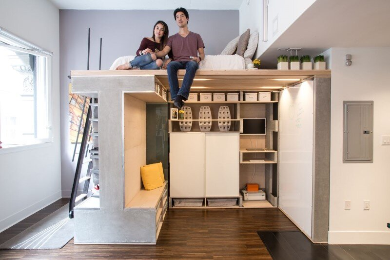 Small Condo Transformed into a Dynamic Space Domino Loft