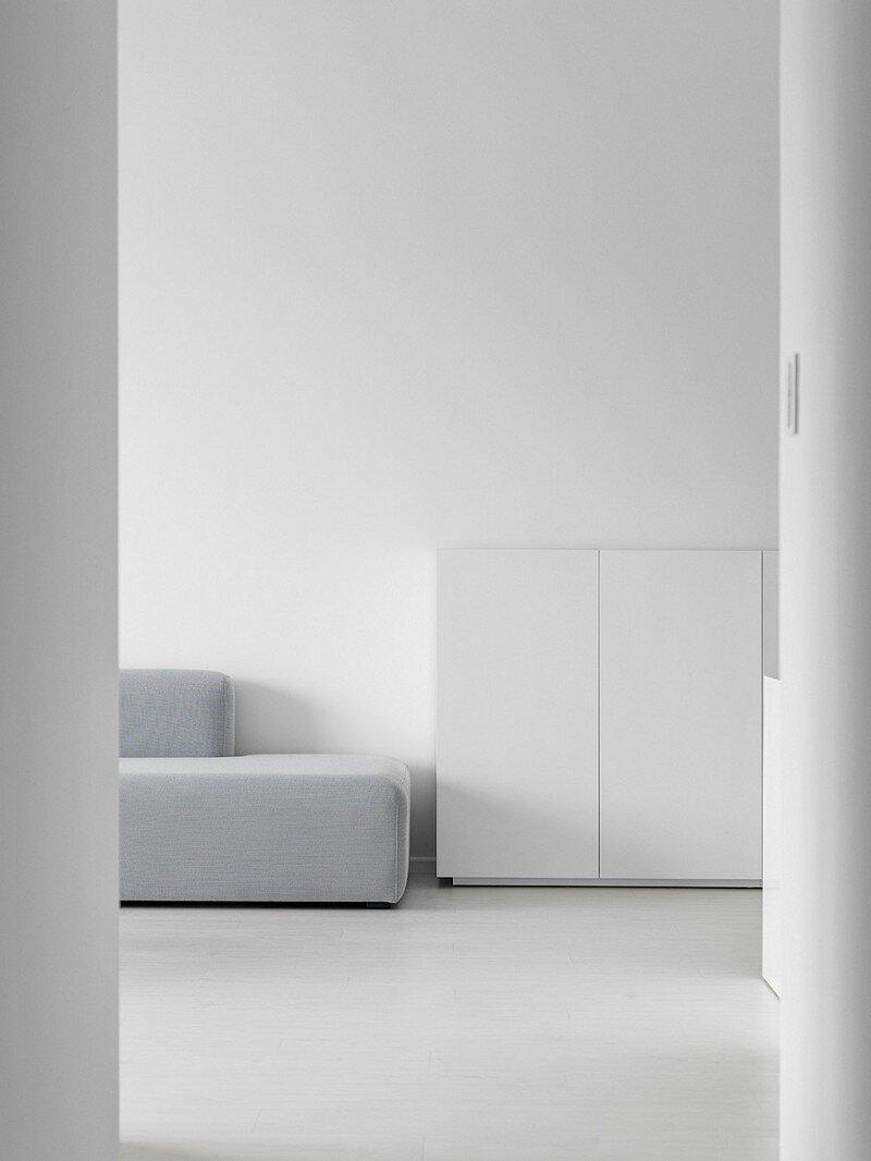 Minimalist White Apartment  Tsai Residence by Tai