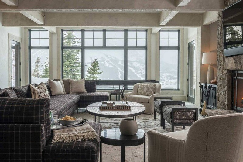 Rustic Mountain House with Zen Interiors  Cashmere Interior