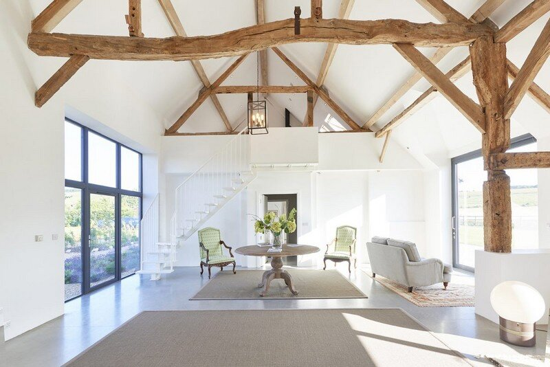 scandinavian living room furniture orange rugs for contemporary barn conversion with a true vibe