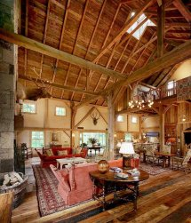 Restored Old Barn Living Rooms