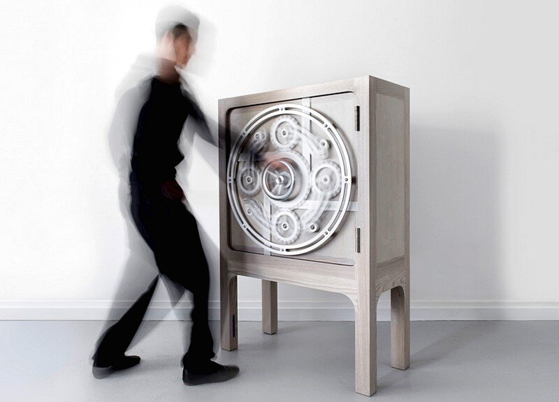 Safe Cabinet  Inspired by Mechanical Bank Vaults