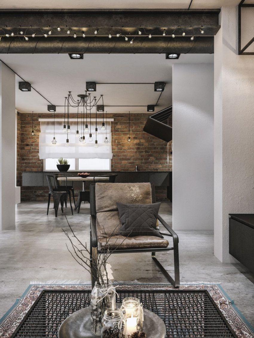 Modern Loft Interior Design by IDwhite Studio