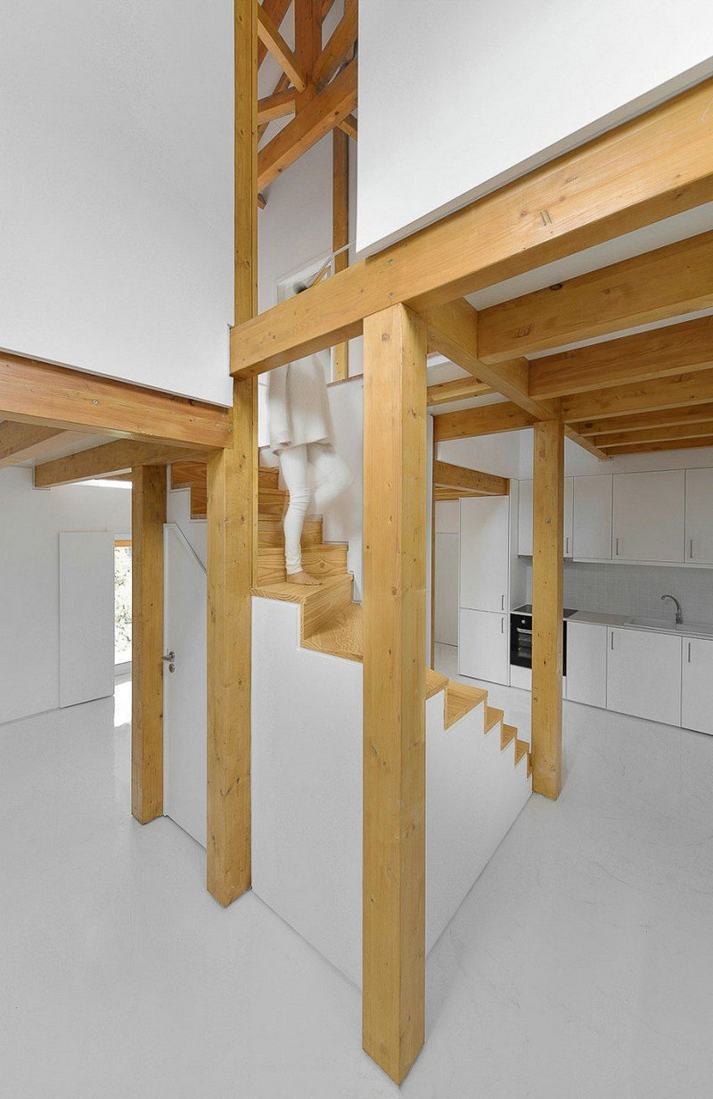Wood Structure Inside Stone Walls  Corpo Atelier