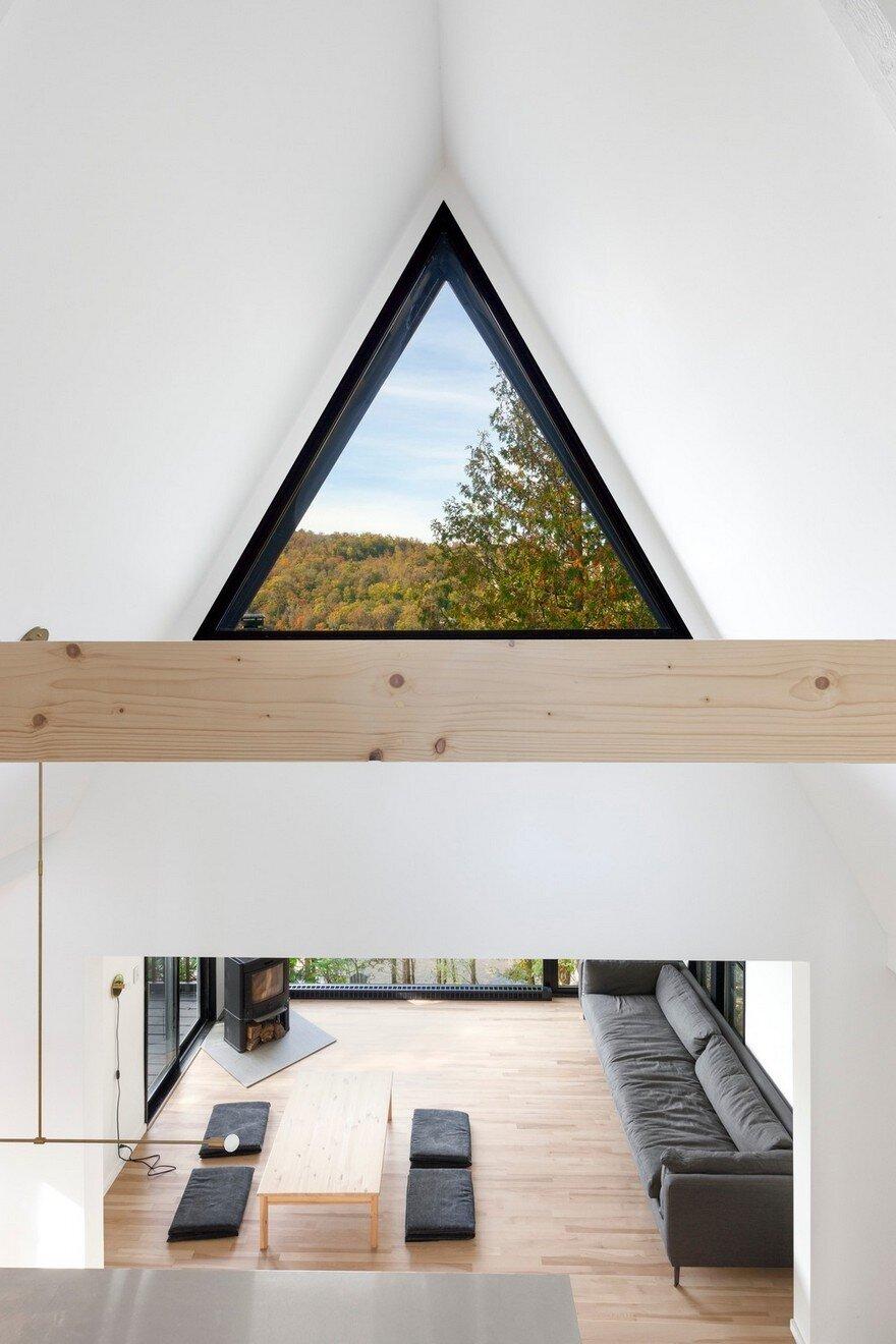 AFrame Cottage by Jean Verville Architecte