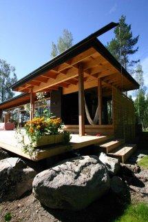 Summer Villa Built Shore Of Beautiful Lake In