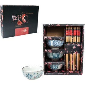 CHINESE BOWL & CHOP STICK 12PCE SET