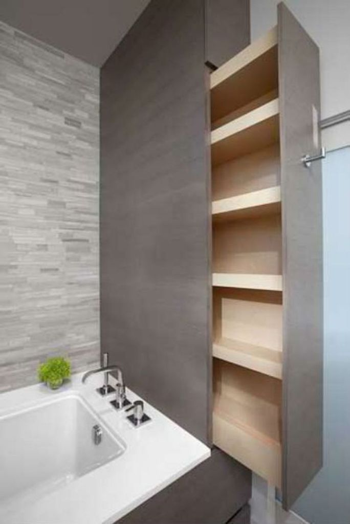 Cool hidden and pull out shelf storage ideas 10 (source pinterest.com)