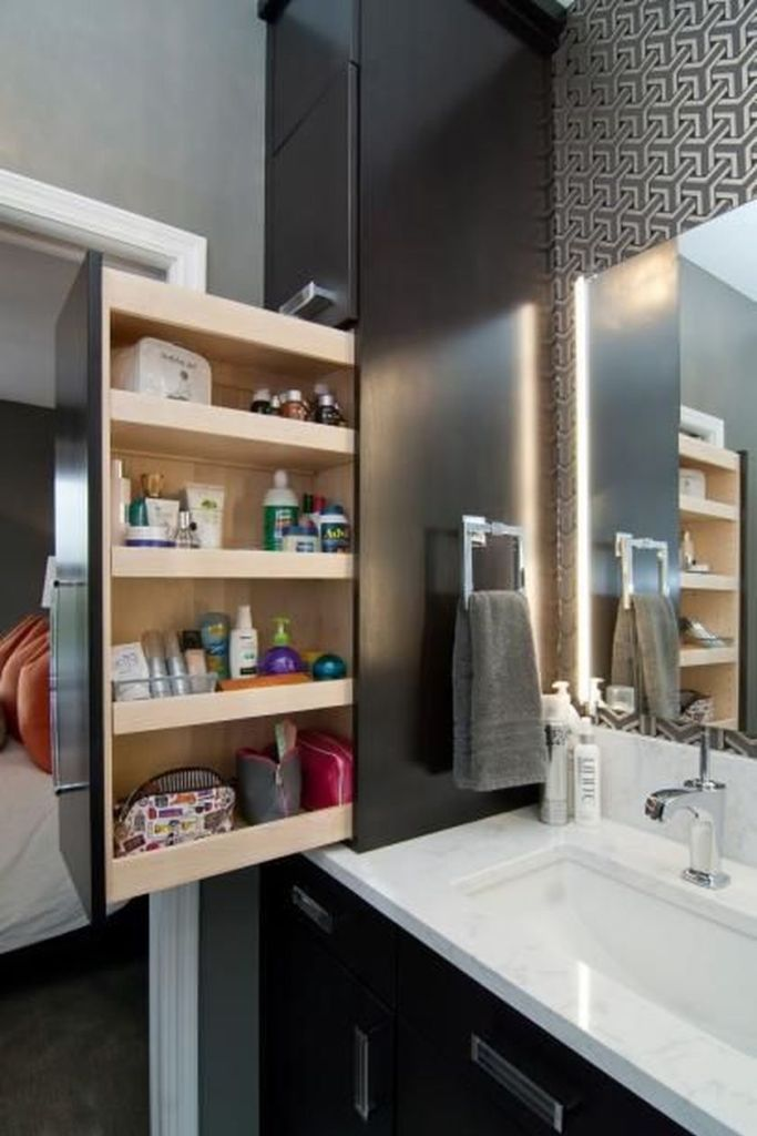 Cool hidden and pull out shelf storage ideas 16 (source pinterest.com)