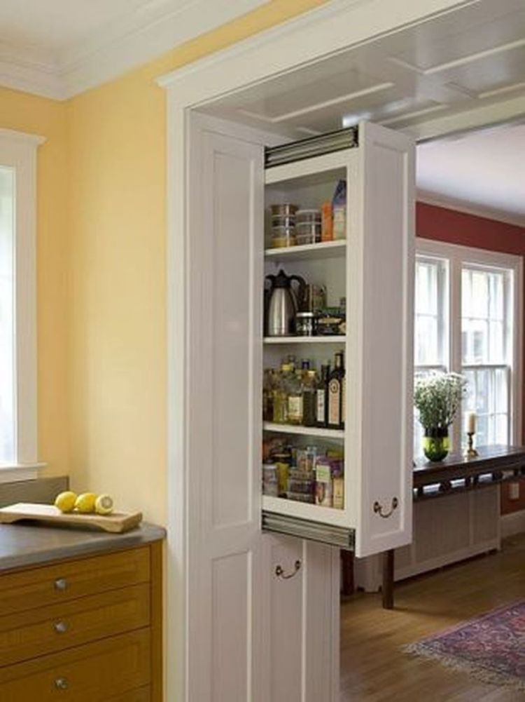 Cool hidden and pull out shelf storage ideas 7 (source pinterest.com)