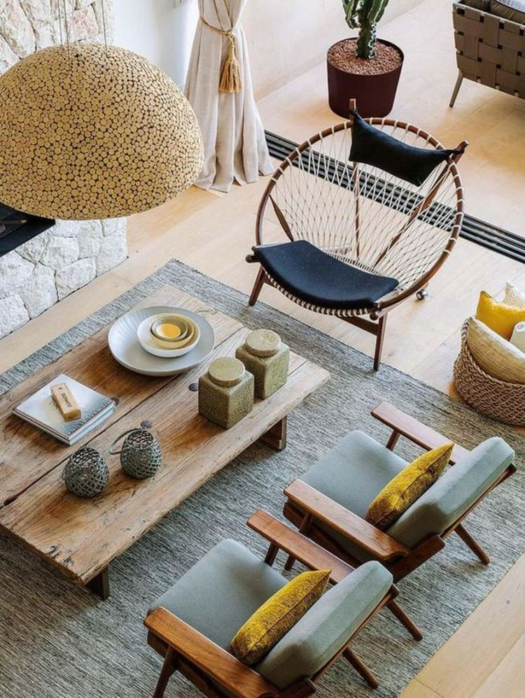 Cozy living room with rugs and low seating style 1 (source pinterest.com)