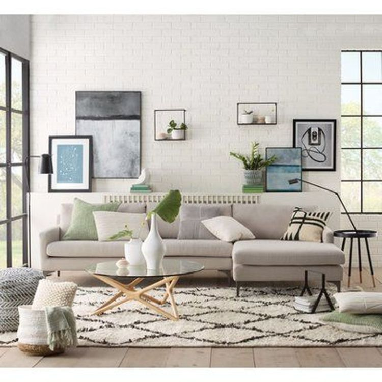 Cozy living room with rugs and low seating style 13 (source pinterest.com)